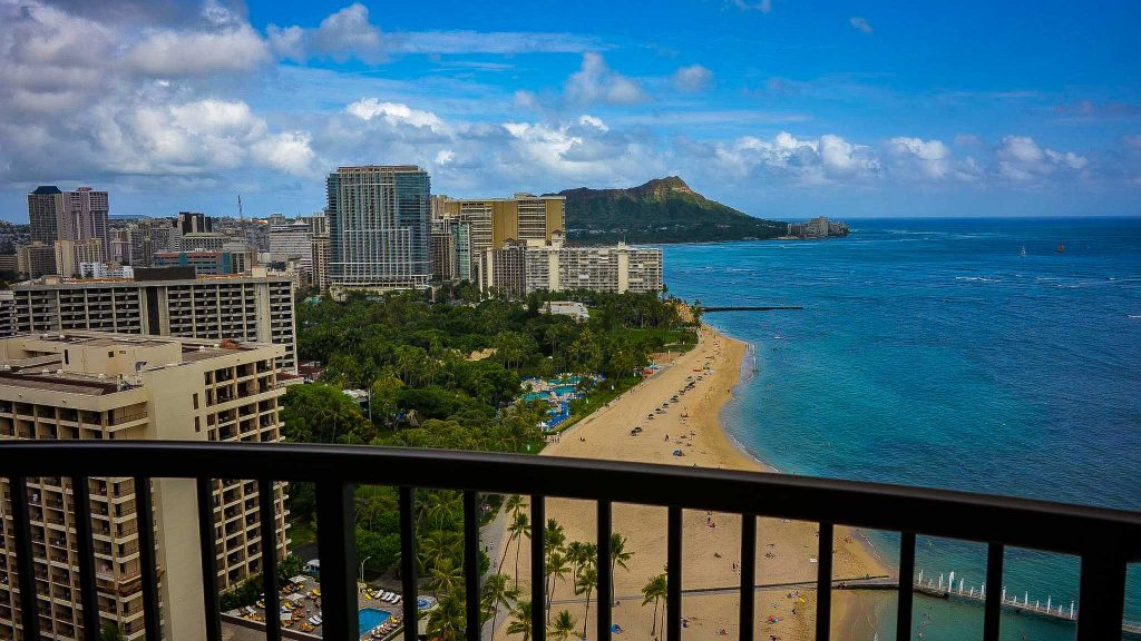 Waikiki, one of the destination we can take you on our Oahu vacation packages.