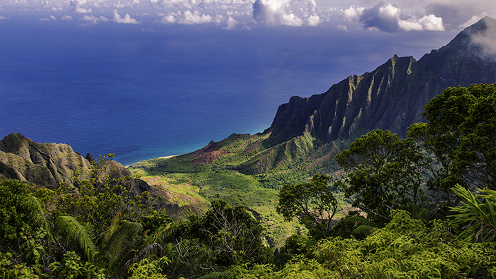 Pictue of Kauai. Read more to find out how you can get here and on what airlines fly to Hawaii.