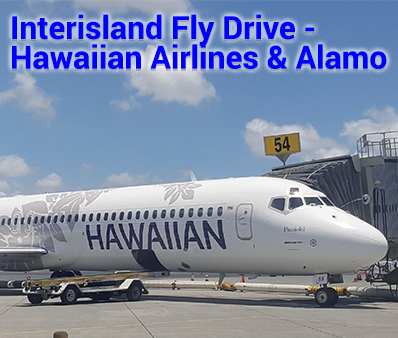 Interisland Fly Drive Hawaiian Airlines and Alamo starting from $189 per person, double occupancy