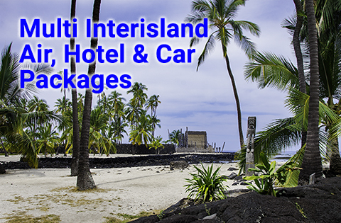 Multi Interisland Air, Hotel & Car Packages - B. Inouye